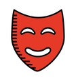 theater mask isolated icon design vector image