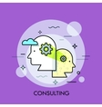 Teamwork professional cooperation and business vector image