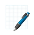 blank note paper with pen vector image