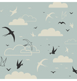 Bird in the sky vector image vector image