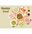 Healthy food for lunch menu icon design vector image