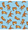 Toy bear pattern vector image