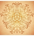 Chocolate floral ornament mandala background card vector image vector image