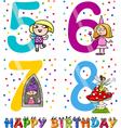 birthday cartoon design for girl vector image vector image
