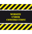 website under construction vector image vector image