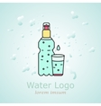 bottle of water for your design and logo vector image