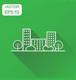 city building icon business concept line town vector image