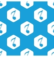 Eighth note hexagon pattern vector image