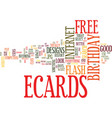 Free birthday ecards how to search text vector image