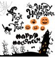 halloween calligr 380 vector image