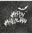 Happy Halloween Card Template Happy Halloween With vector image