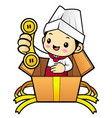 head chef character please call me today isolated vector image