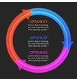 Infographics design template Circular arrows vector image