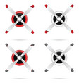 motor with propeller in red and white set vector image