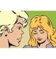 People in retro style pop art Talking girls vector image