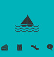 sailboat icon flat vector image
