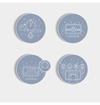 Set of pictogram in round vector image