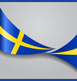 swedish wavy flag vector image