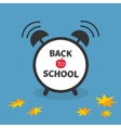 Back to school Alarm clock with chalk text vector image