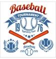 American baseball emblem vector image