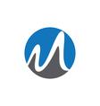 M letter logo Template vector image
