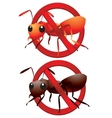 Dead ants sign vector image