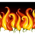 red hot chilli pepper in the shape of fire vector image vector image