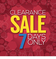 Clearance Sale Background vector image