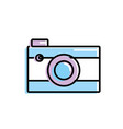 digital camera technology to photography icon vector image