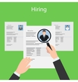 Hiring and resume vector image