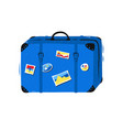 travel bag on white background vector image