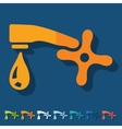 Flat design faucet vector image vector image