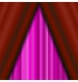 Cinema Closed Pink Curtain vector image