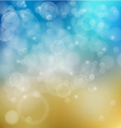 Light blue with yellow bokeh background vector image vector image