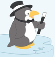 Dapper Penguin vector image