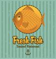 retro fish vector image