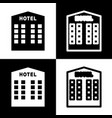 hotel sign  black and white icons and line vector image
