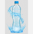 transparent plastic bottle with water crown vector image