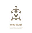 woolen sweater knitted clothing vector image