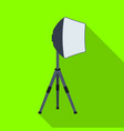 lighting device on a tripodmaking movie single vector image