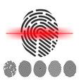 finger print scanning clipart vector image