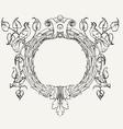 Dove Wreath vector image vector image