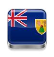 Metal icon of Turks and Caicos Islands vector image vector image