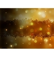 Christmas gold background EPS 8 vector image vector image