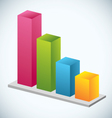 Growth Bar Graph vector image vector image