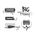 Retro fishing club badges labels logos vector image