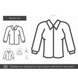 blouse line icon vector image