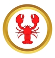 Crayfish icon cartoon style vector image