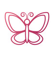 cute butterfly garden insect animal wildlife vector image