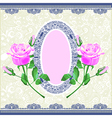 hand draw pink rose ornamental decoration vector image